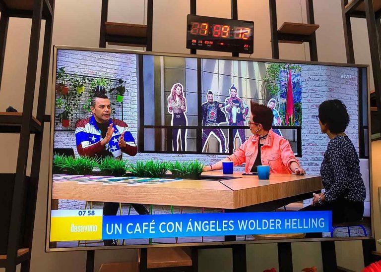 Ángeles Wolder en entrevista para el programa El Desayuno, Canal RCN de Colombia